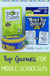 The best speech-language therapy games for middle school SLPs!