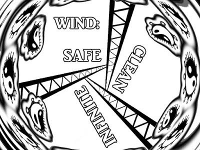 Wind Power - Safe Clean Infinite - Coloring Book Art by gvan42 Greg Vanderlaan