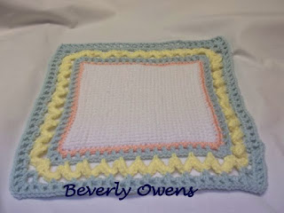crochet work with border