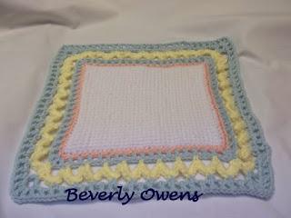 crochet work with border