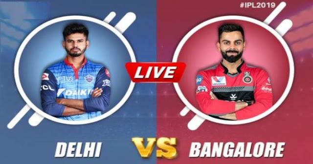 VIVO IPL 2019 Match 46 DC vs RCB Live Score and Full Scorecard