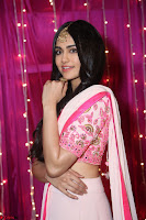 Adaa Sharma in White Pink Saree at Zee Telugu Apsara Awards 2017 05.JPG