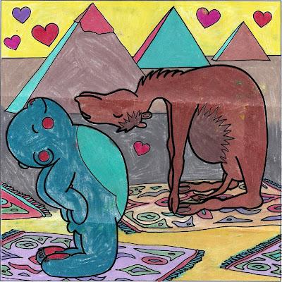 yogateddybear, yogateddybeartv, yoga teddy bear, yoga, invite love, yoga ed, camel pose, yoga education, coloring books, coloring contest, yoga teddy bear coloring