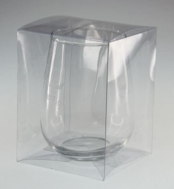 Hộp nhựa trong đựng ly thủy tinh