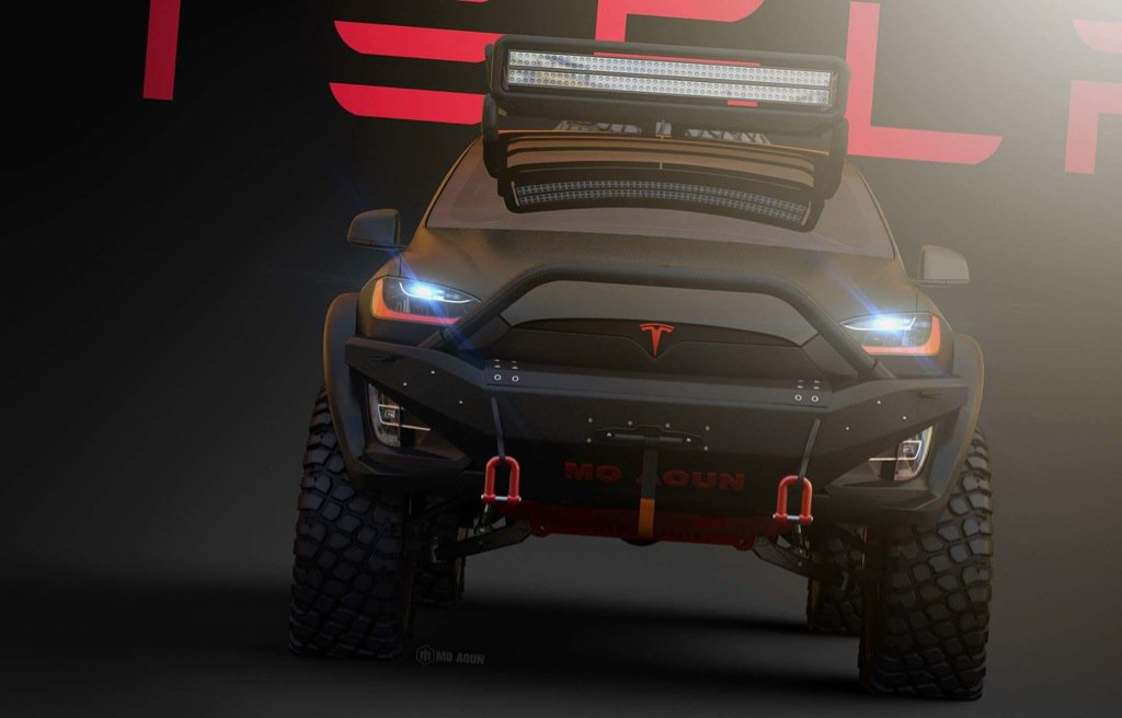 Tesla Model X Off Road