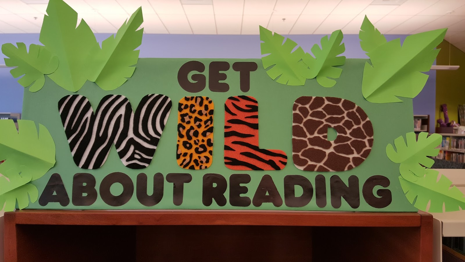 Literary Hoots Wild About Reading Library Display