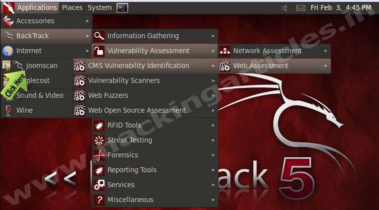 joom How to Find Vulnerability in joomla Website using Backtrack