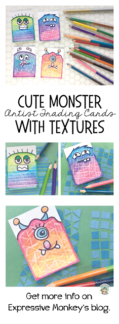 These Monster ATC Cards are so easy and fun to make that students will have no problem making several to trade with their friends or give away. Once you see the easy step-by-step tutorial you won't be able to make just one!