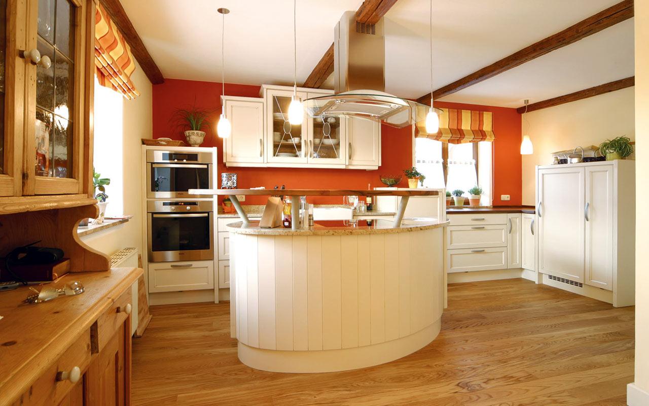 Fotos de cocinas naranjas colores en casa - Cocina de color ...