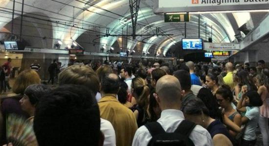 El metro de Roma Termini
