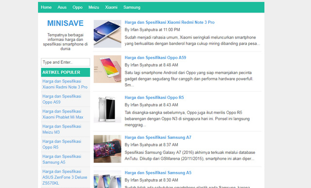 MiniSave Simple Responsive Blogger Templates