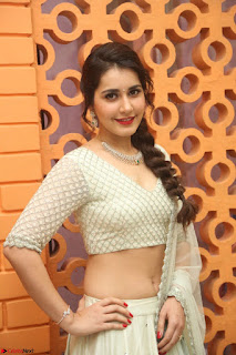 Raashi Khanan looks stunning in Crop Top Deep neck Choli Ghagra Transparent Chunni WOW ~  Exclusive Celebrities Galleries 079.JPG