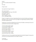 Contoh Surat Lamaran Kerja CPNS Lulusan S1 untuk Dinas Pendidikan
