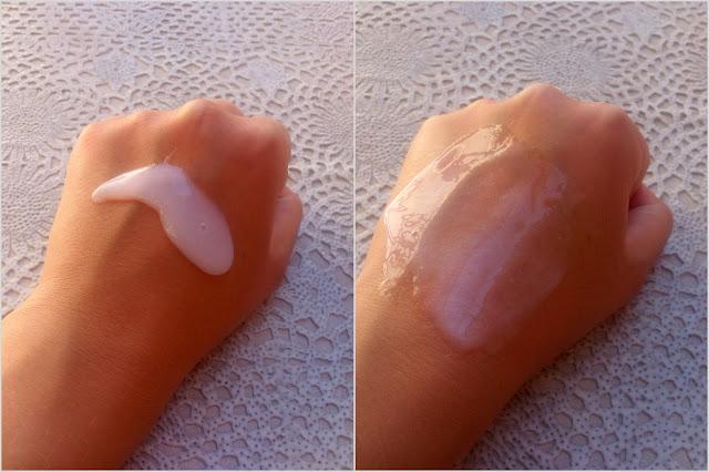 Isana, Kremowo-olejowy peeling pod prysznic z olejkiem migdałowym i perełkami masującymi