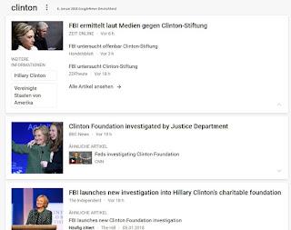 FBI ermittel gegen Clinton-Foundation aber nicht gegen TENEO