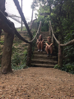 escaleras en la reserva natural pan de azucar