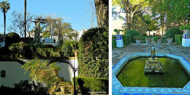 Fontes nos jardins do Palácio do Rei Mouro, Ronda, Andaluzia