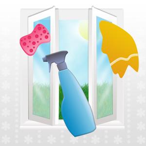 Télikert műanyag ablak tisztítás
