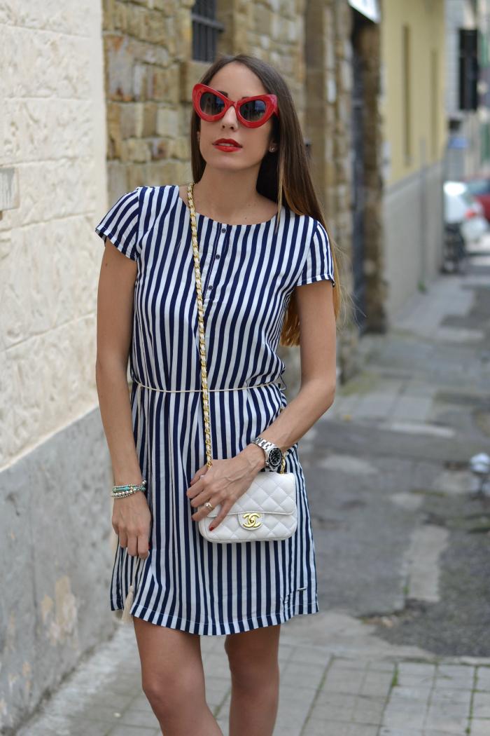 abito righe bianco blu
