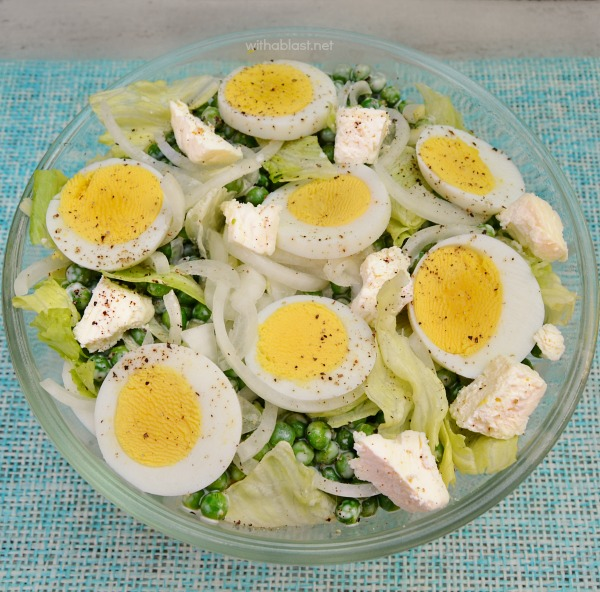 Pea Egg and Feta Salad