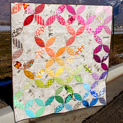 Orange Peel Quilt designed by Emily Herrick of Crazy Old Ladies Quilts