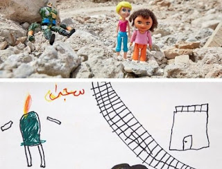 ARTIST CAPTURES WAR IN THE MIDDLE EAST AS SEEN BY CHILDREN