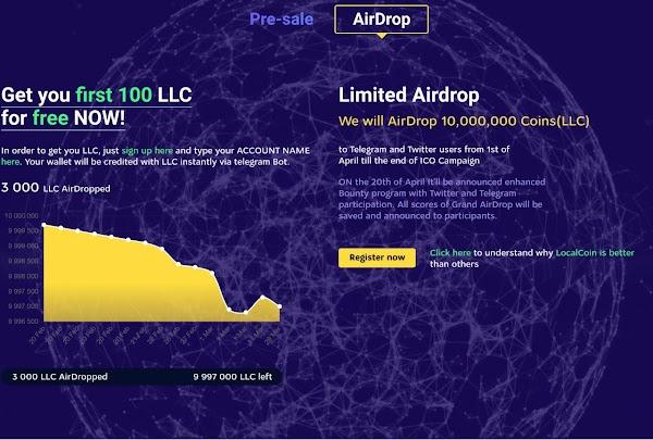 Local Coin Airdrop - Free 30 LLC ($30)