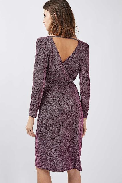 glitter dress, glitter wrap dress, sparkly wrap dress,