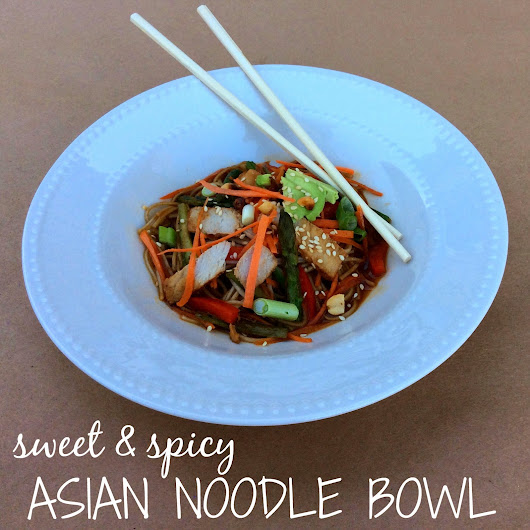 Sweet & Spicy Asian Noodle Bowl