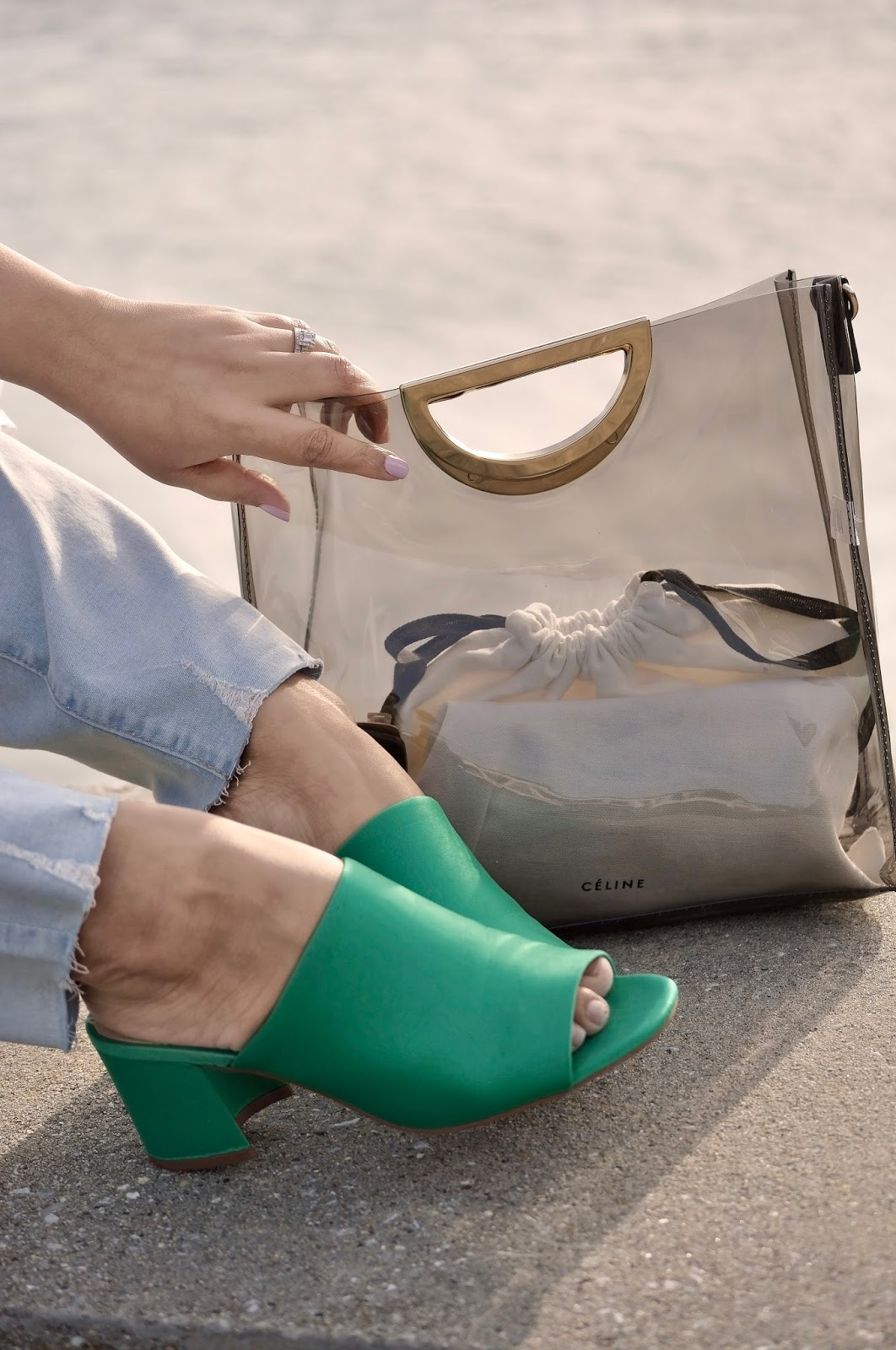Celine clear bag