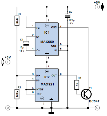 Inductorless 3-to-5 Volts Converter