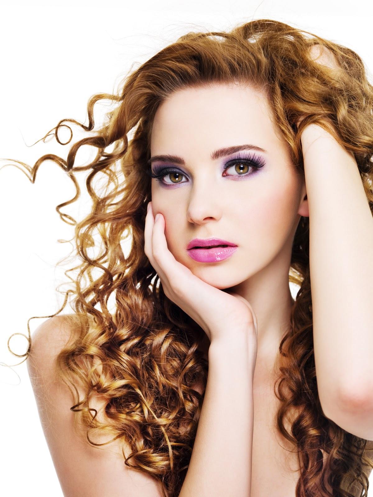 Super dulce peinados para chicas Imagen de tutoriales de color de pelo - Peinados y Moda: Lindos Peinados Rizados para Mujeres Sexys