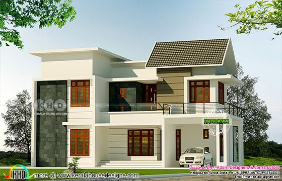 2125 square feet 4 bedroom modern house view