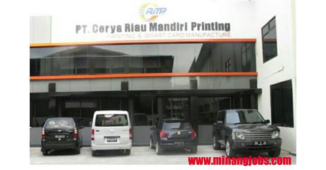 Lowongan Kerja Sumbar PT. Cerya Riau Mandiri Printing Pekanbaru