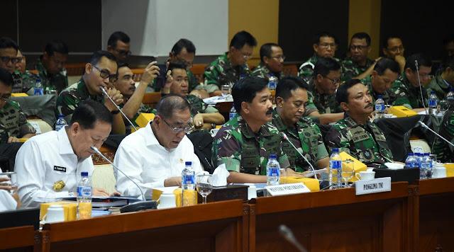 Bahas Pemilu, Panglima TNI Gelar Rapat Dengan Komisi I DPR RI
