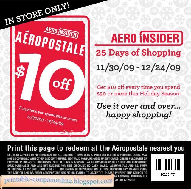 Printable aeropostale coupons december 2018