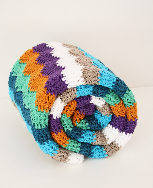 "Crochet blanket""ripple stitch"