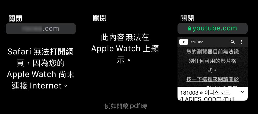 apple watch 開網頁的限制