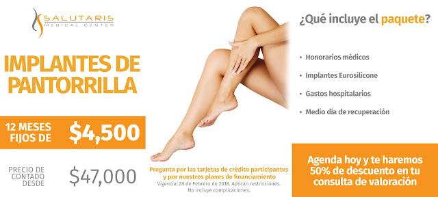 Precio Cirugia Plastica Implantes de Pantorrilla Piernas Guadalajara Mexico