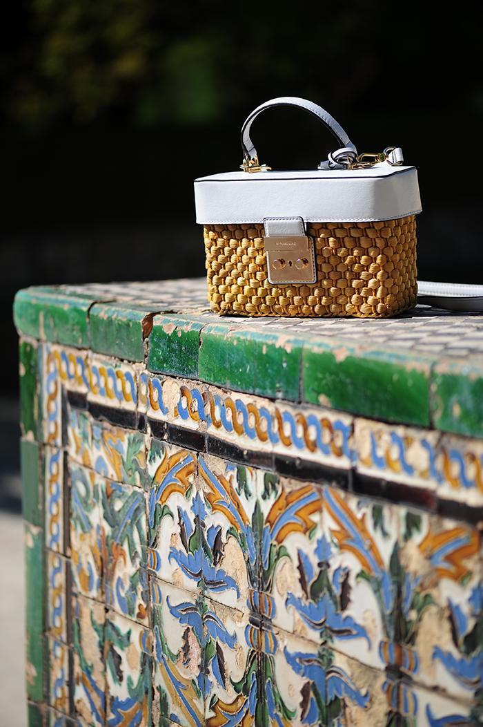 Real Alcazar, Sevilla, nähen, sewing, DIY, Simplicity patterns, stoffe.de, embroidery, tassel erarrings, Quastenohrringe, basket bag, Korbtasche