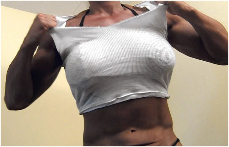 Female Bodybuilder Musclebound Michelle Hulking Out & Ripping my shirt off!