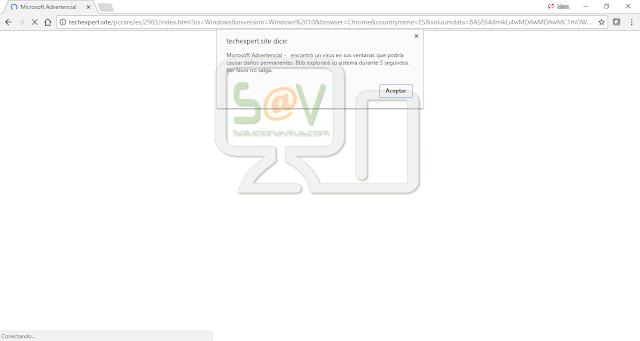 """""""Microsoft Advertencia! -   encontró un virus en sus ventanas que podría causar daños permanentes"""" pop-ups"""
