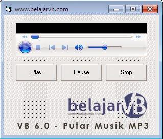 Cara Mudah Memutar Musik Mp3 pada VB 6.0, Windows Media Player, Tutorial Membuat Aplikasi Pemutar Musik MP3 Dengan VB 6.0