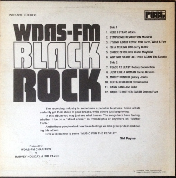 EARLY '70S RADIO: The WDAS-FM Black Rock LP