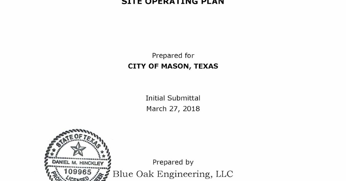 Msw Application For Mason Tx East Landfill Part Iv Site