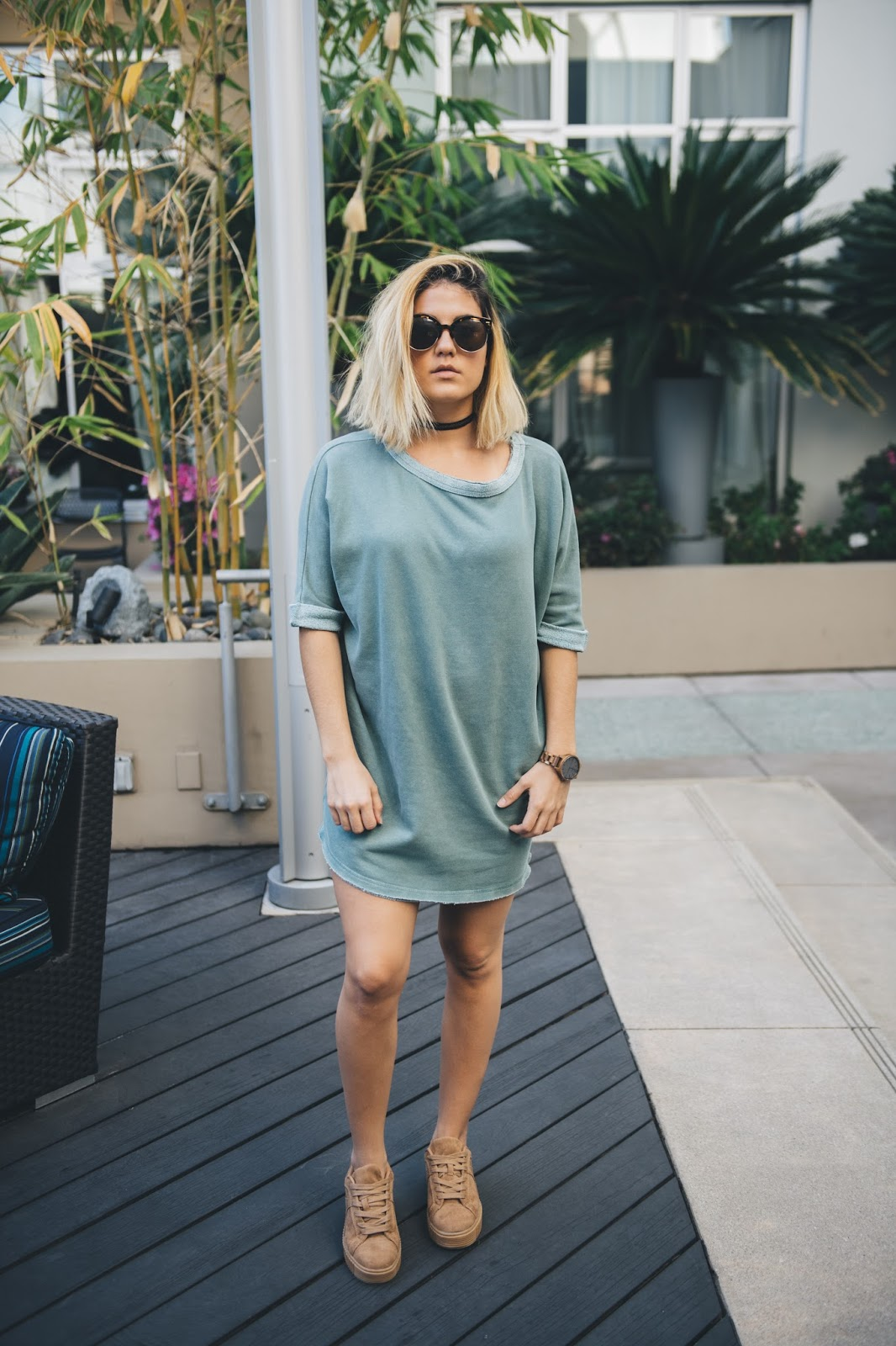 Sweatshirt Dress -- @taylorwinkelmeyer