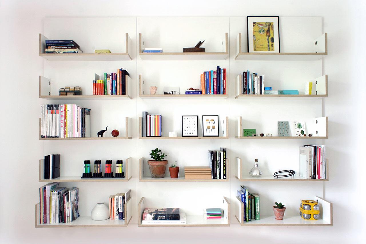 30 Model Rak Buku Dinding Minimalis Terbaru Dengan Bentuk