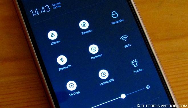 Barre de notifications Xiaomi