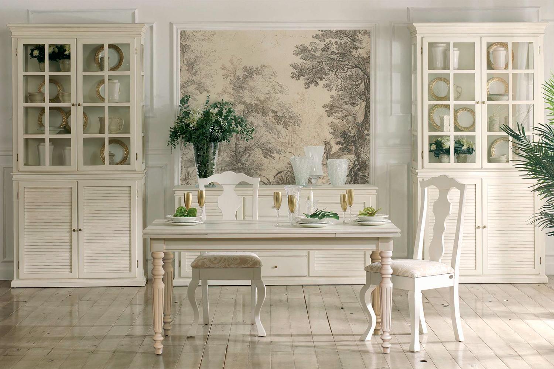 Muebles de comedor vitrinas vintage para ordenar el comedor for Decorar vitrina de comedor
