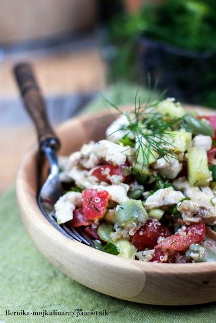 komosa, salatka, bob, dieta, hashimoto, bez glutenu, bernika, kulinarny pamietnik, quinoa